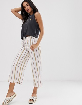 RVCA Fully Noted pant in stripe-Cream