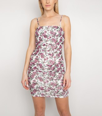 New Look NaaNaa Floral Ruched Bodycon Dress