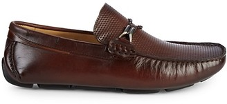 Saks Fifth Avenue Perforated Leather Drivers