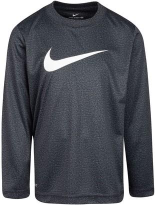 Nike Boys 4-7 Dri-FIT Long Sleeve Graphic Tee