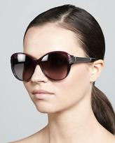 David Yurman Stretched Wheaton Sunglasses, Ametrine/Gunmetal