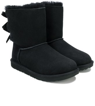 Ugg Kids TEEN bow shearling boots