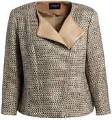 Lafayette 148 New York Lafayette 148 New York, Plus Size Trista Silk & Leather Jacket
