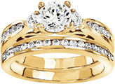 MODERN BRIDE 1 1/2 Ct. T.W. Diamond 14K Yellow Gold Bridal Set