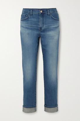 J Brand Tate Boyfriend Jeans - Mid denim