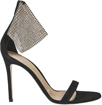 Gianvito Rossi Crystal Suede Sandals