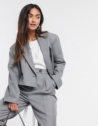 ASOS DESIGN crop dad suit blazer