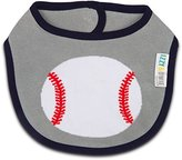 Izzy and Owie Baseball Bib 0-24 Months, Gray