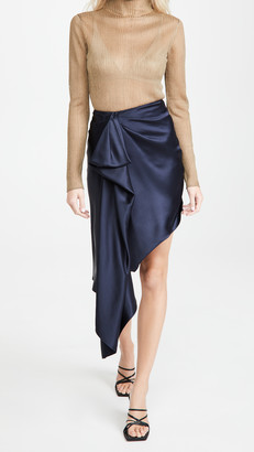 Cushnie High Waisted Asymmetrical Hemmed Skirt