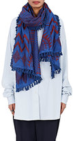 A Peace Treaty Women's Mafungo Cotton-Silk Embroidered Scarf