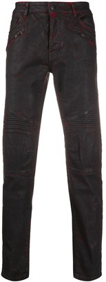 Marcelo Burlon County of Milan Quilted Detailed Biker Jeans