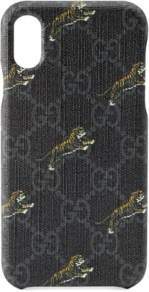 Gucci Soft GG Supreme tigers iPhone X/XS case
