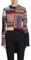 Alexander McQueen Patchwork Wool & Cashmere Hi-Lo Sweater