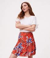 LOFT Floral Tiered Flippy Skirt