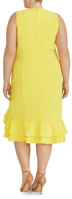 Rachel Roy Plus Blake Ruffled-Hem Dress