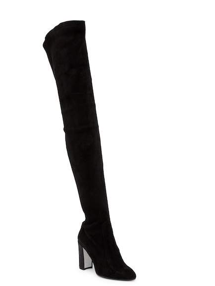 Rene Caovilla Over The Knee Chunk Heel Boot