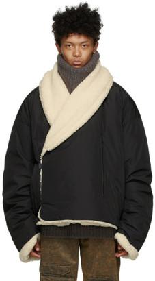 A. A. Spectrum Black Mongolian Fleece Jacket