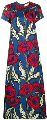 La DoubleJ Silk Floral Print Dress