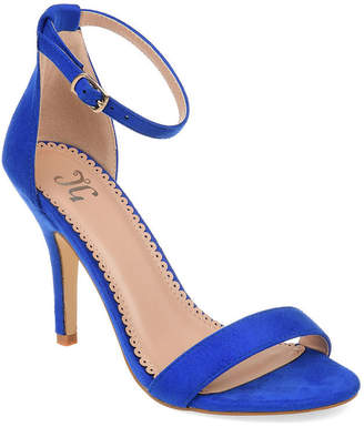 Journee Collection Womens Polly Pumps Buckle Open Toe Stiletto Heel