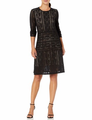 BCBGMAXAZRIA Azria Women's Waving Vines Lace Shift Dress