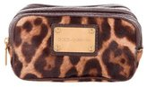 Dolce & Gabbana Ponyhair Leopard Cosmetic Case
