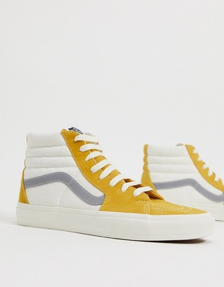 Vans Retro Sport SK8-Hi sneakers in gold/cream