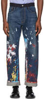 Junya Watanabe Indigo Levis Edition Paint Jeans