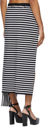 Jean Paul Gaultier SSENSE Exclusive White & Navy Ottolinger Edition Les Marins Patchwork Skirt