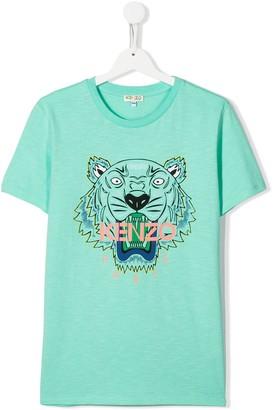 Kenzo Kids TEEN tiger logo T-shirt