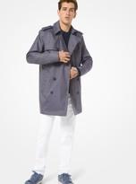 Michael Kors Denim-Weave Trench Coat