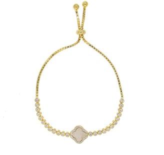 Cosanuova Gold Opal Clover Bracelet