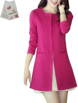 Donalworld Women Long Trench Coat Slim Long Cardigan Asian Size 2XL