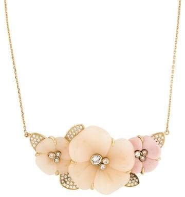 Nina Ricci Crystal Flower Pendant Necklace