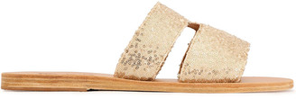 Ancient Greek Sandals Apteros Sequined Woven Slides