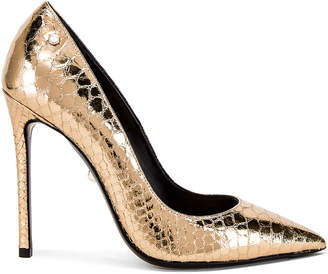 ALEVÌ Milano Carrie Pump in Gold Snake | FWRD