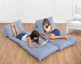 Blue Denim Kids Teen Floor Pillow Case Lounger Cushion Cover (Pillows Not Included)