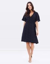 Forcast Zara Polka-Dot Wrap Dress