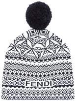Fendi Knitted Heritage Beanie Hat