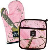 DII 100-Percentage Cotton, Machine Washable, Everyday Kitchen Basic, Realtree Printed Oven Mitt and Potholder Gift Set
