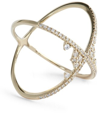 Djula Yellow Gold and Diamond Fairy Tale Cross Ring