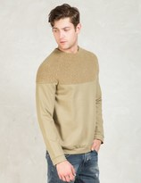 Discovered Beige L/S Boa York Sweatshirt