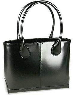 Fontanelli Polished Italian Leather Tote Bag