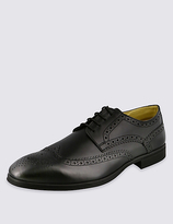M&S Collection Leather Derby Brogue Shoes with AirflexTM