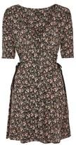 Topshop Floral Corset Side Tea Dress