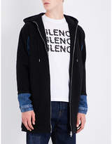 McQ Denim-sleeve wool coat