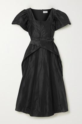 Preen by Thornton Bregazzi Jayda Silk-taffeta Midi Dress - Black