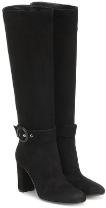 Gianvito Rossi Lucas suede knee-high boots