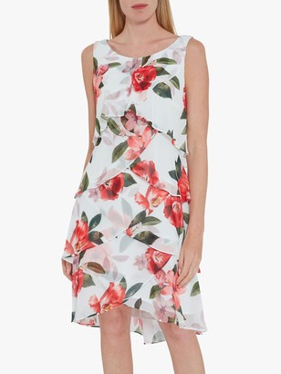 Gina Bacconi Floral Tiered Dress, Ivory