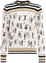 Dolce & Gabbana Dolce Gabbana Jazz Print Cashmere Silk
