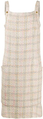 Chanel Pre Owned Tweed Shift Dress